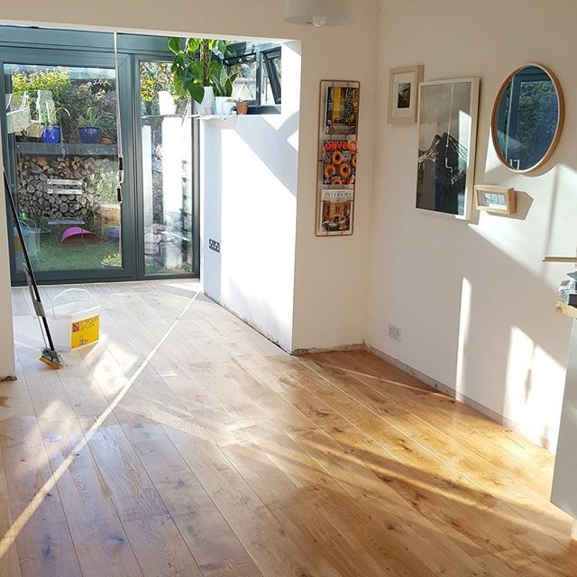 Progress! ❤ . . . . . #woodfloor #myhomevibe #kitchen #myhome #homerenovation #ikea #urbanoutfitters #myhomestyle #scandi #sunlight #brightroom #osmooil #workinprogress #feelinghappy #glassroom #extension #interior #interiør