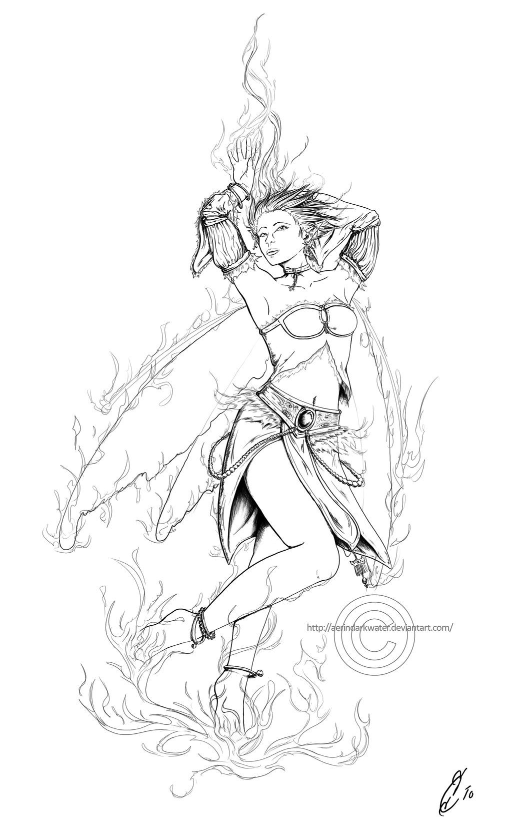 coloring pages elemental fairy colouring pages
