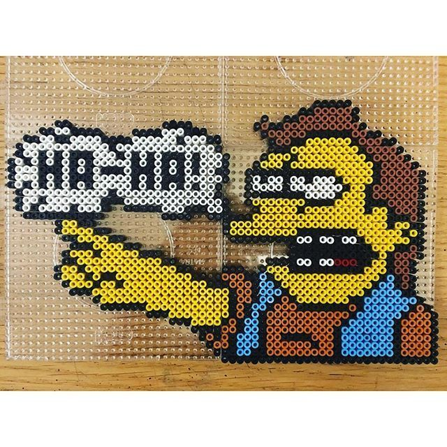 Nelson The Simpsons hama beads by pixtille: