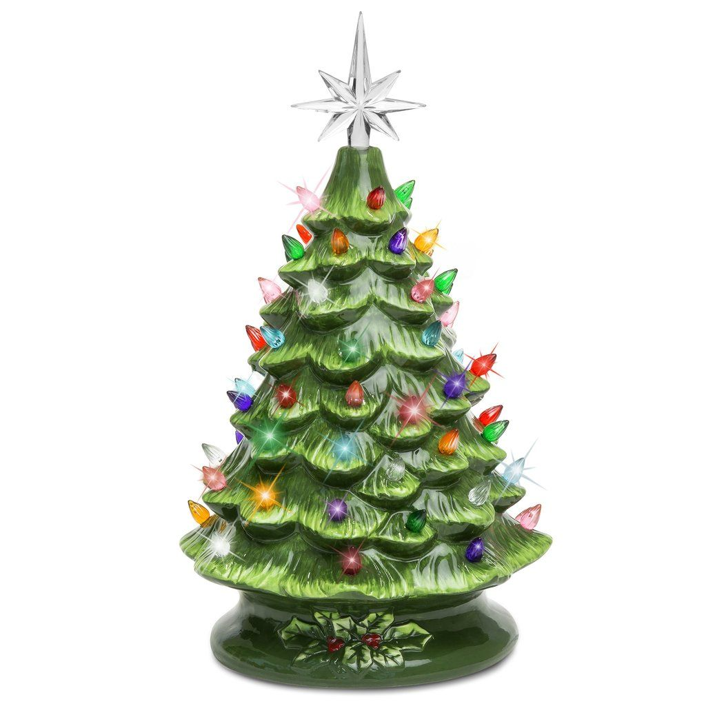 Ceramic Tabletop Christmas Tree With Lights Brilliant Prelit Ceramic Tabletop Christmas Tree  Christmas Ideas Design Decoration