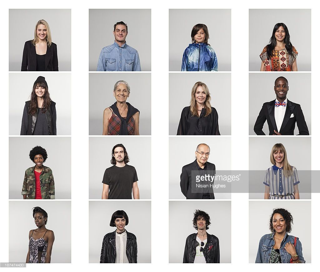 individual portraits of diverse age, gender and race of