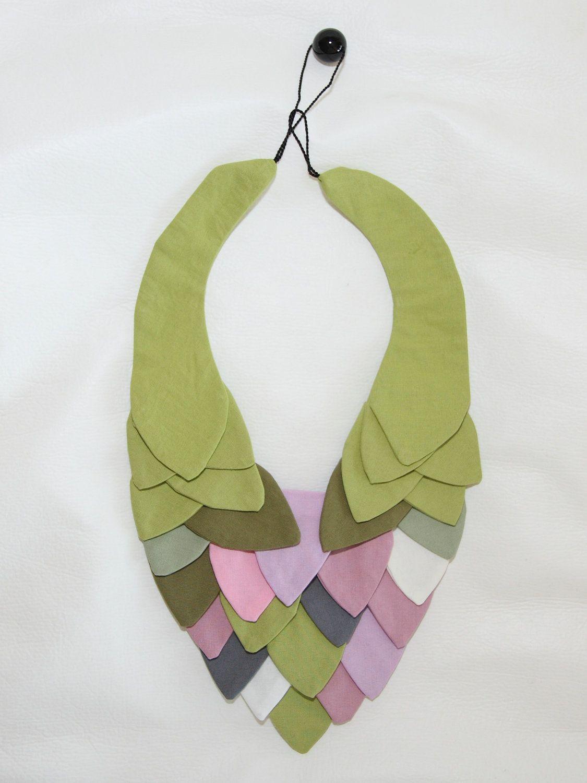 902e76112 Smykke Etsy.   BIJOUX DI TESSUTO   Pinterest   Textiles, Collares y Joya