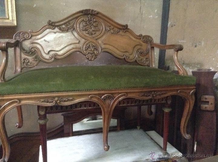 Sofa banqueta luis xv precioso antig edades muebles for Nombres de muebles antiguos