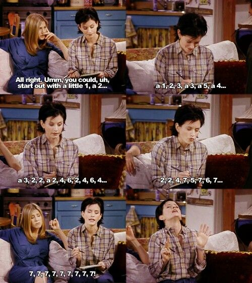 Seven! | Friends moments, Monica friends, Friends tv