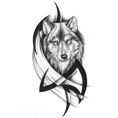 Tatuaggio Lupo Tribale 05 Tatoo Tattoos Tribal Wolf Tattoo E