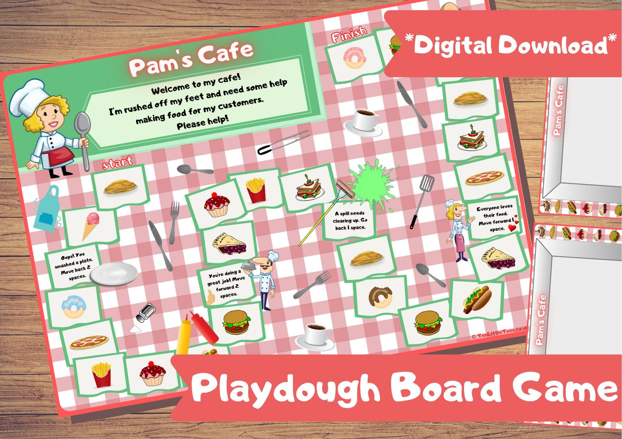 Kids Printable Play Dough Board Game Family Games Games