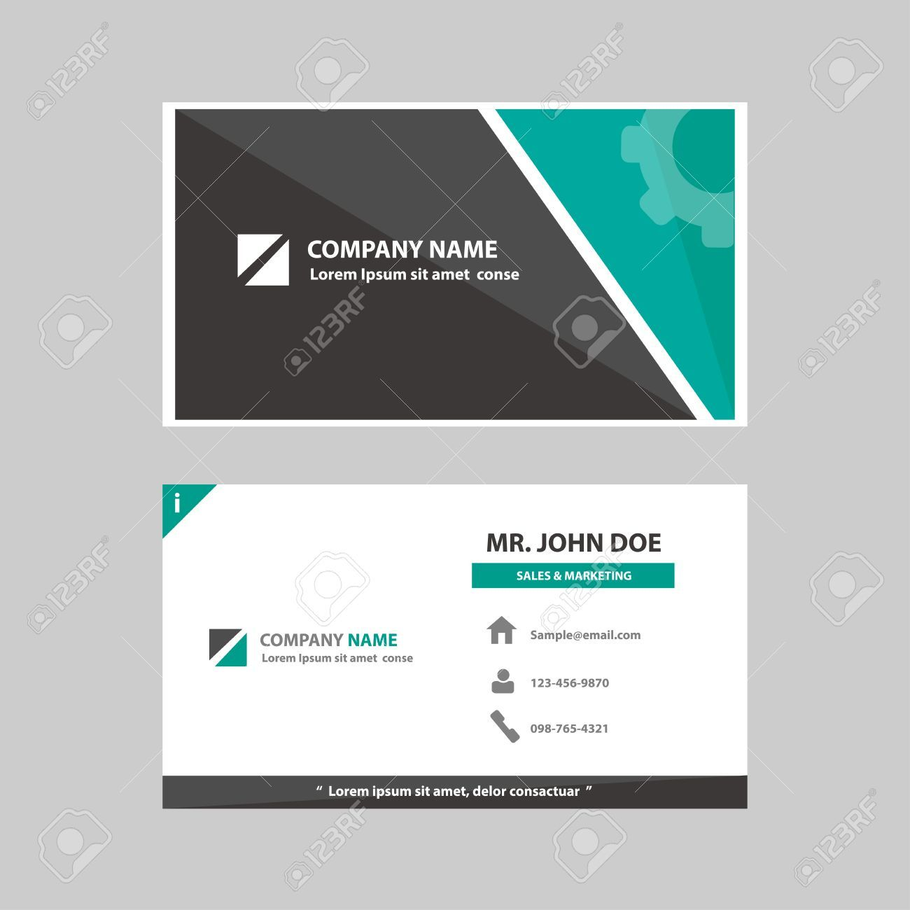 Green And Black Multipurpose Business Profile Card Template Flat In Advertising Card Template Cumed Card Template Business Profile Personal Business Cards