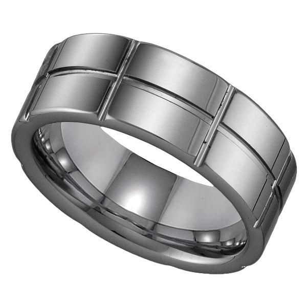 Tungsten Men`s Wedding Band #jewelry www.BlueRainbowDesign.com