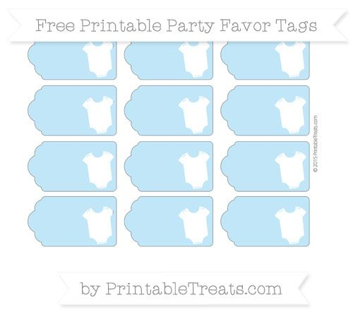 Free Baby Blue Baby Onesie Party Favor Tags Baby Shower Tags Free Baby Stuff Baby Shower Favor Tags