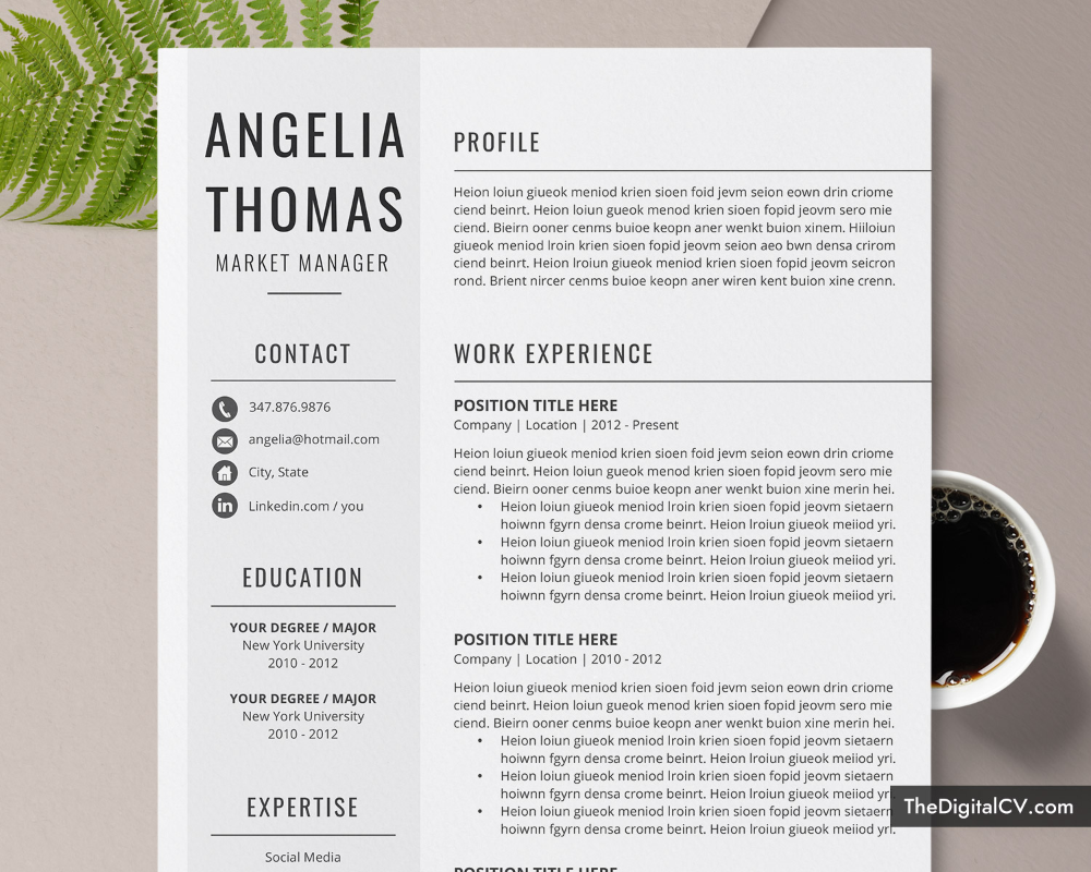 Basic and Simple Resume Template 2020-2021, CV Template ...