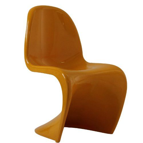 Groovy 60's Retro Modern Dining Chair in Yellow Dimensions ...