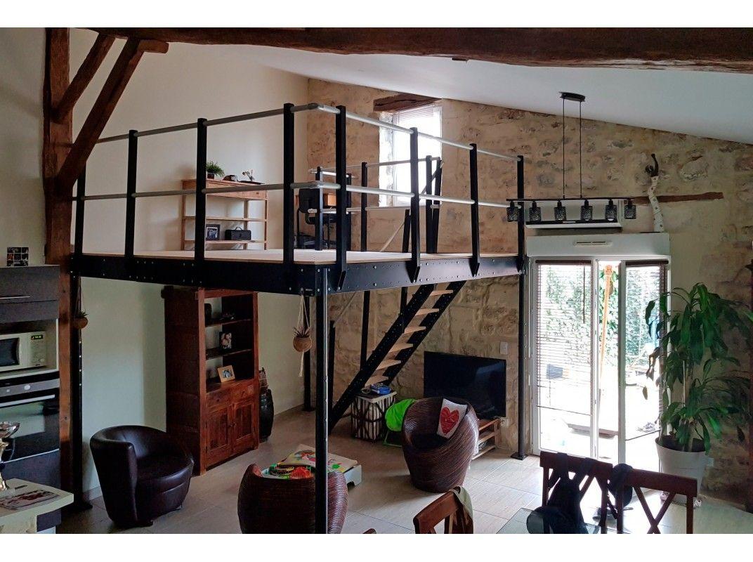 Mezzanine Tm 15 Avec Escalier Droit M Plan Maison Moderne Plan De Maison A Etage Plan Maison Contemporaine