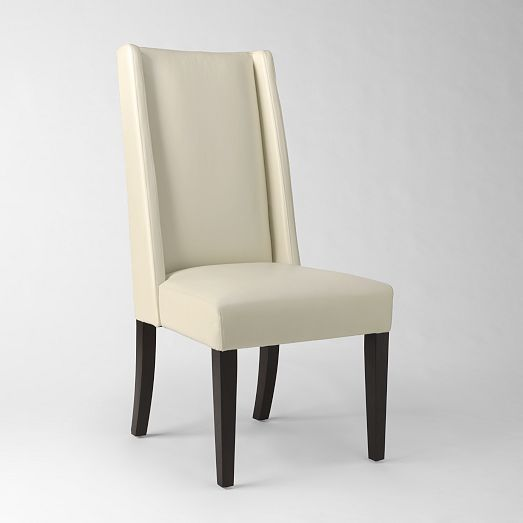 Willoughby Leather Dining Chair Ivory West Elm Dining Chairs