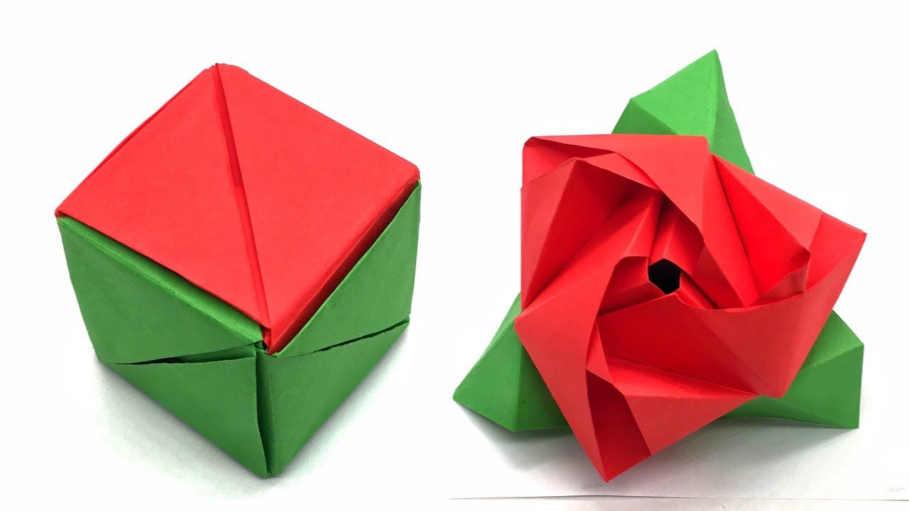 How to Fold a Magic Rose Cube by ninjaydes64 | Origami magic rose ... | 720x1280