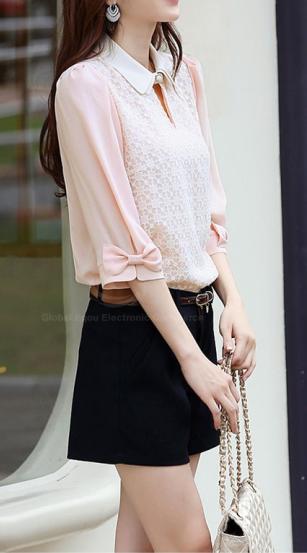 Pastel Pink Top.  dresslily.com
