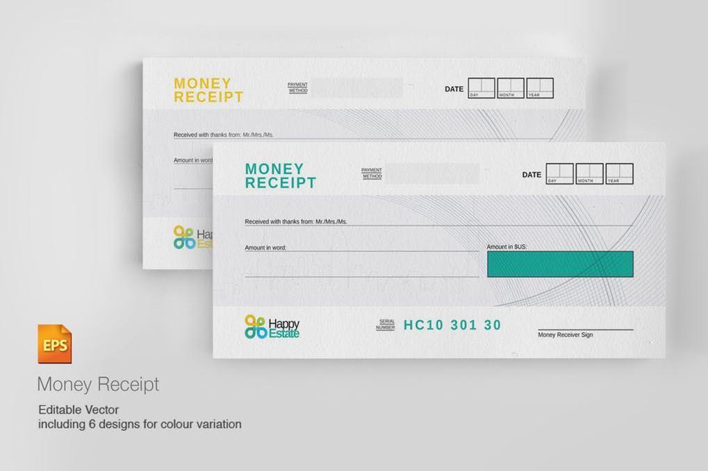 Money Receipt Voucher Template EPS Voucher Design Templates