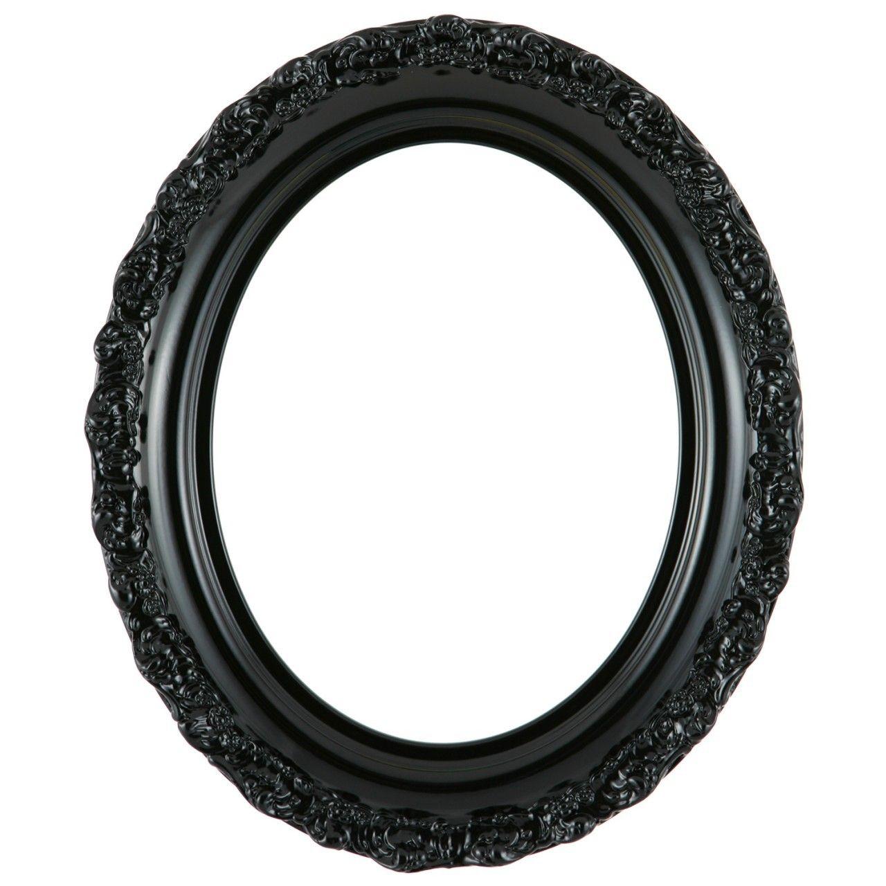 Venice Oval Frame #454 - Gloss Black