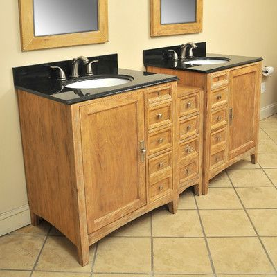 "Elmhurst 73"" Double Basin Bathroom Vanity Set Top Finish: Midnight Black, Basin Finish: Linen, Basin Shape: Oval - http://bathroomvanitiespot.com/elmhurst-73-double-basin-bathroom-vanity-set-top-finish-midnight-black-basin-finish-linen-basin-shape-oval-500203503/"