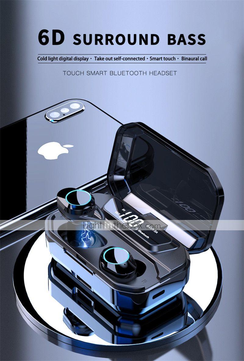 LITBest G02 TWS True Wireless Earbuds Bluetooth 5.0 Stereo