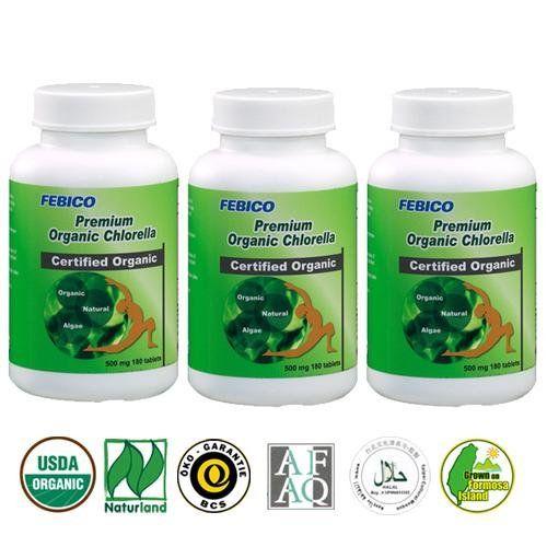 FEBICO Natural Organic Chlorella Tablets- Organic Vegan G