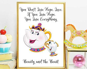 Beauty And The Beast Printable Mrs Potts Quote Beauty And The