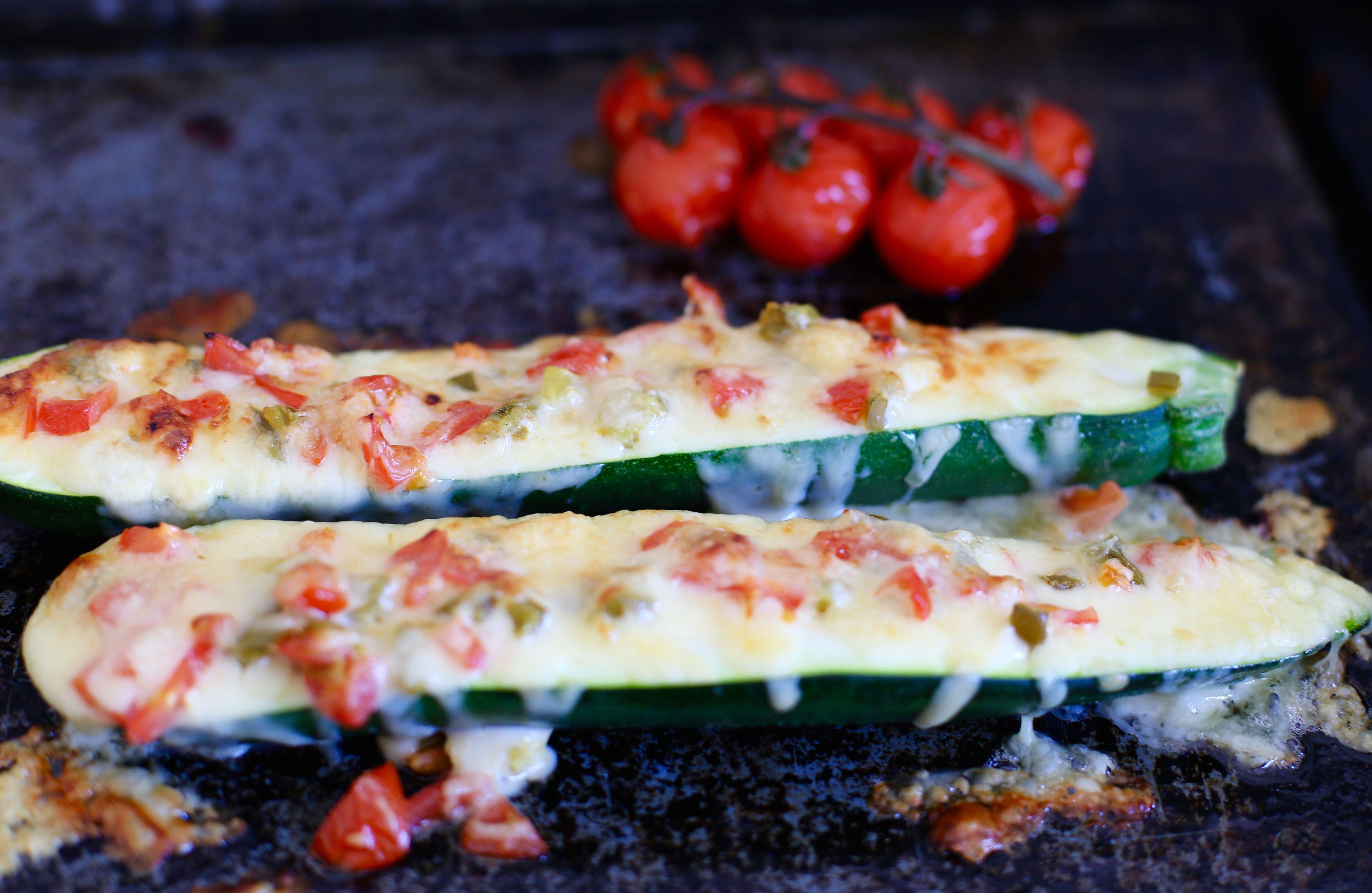gratinerad zucchini parmesan