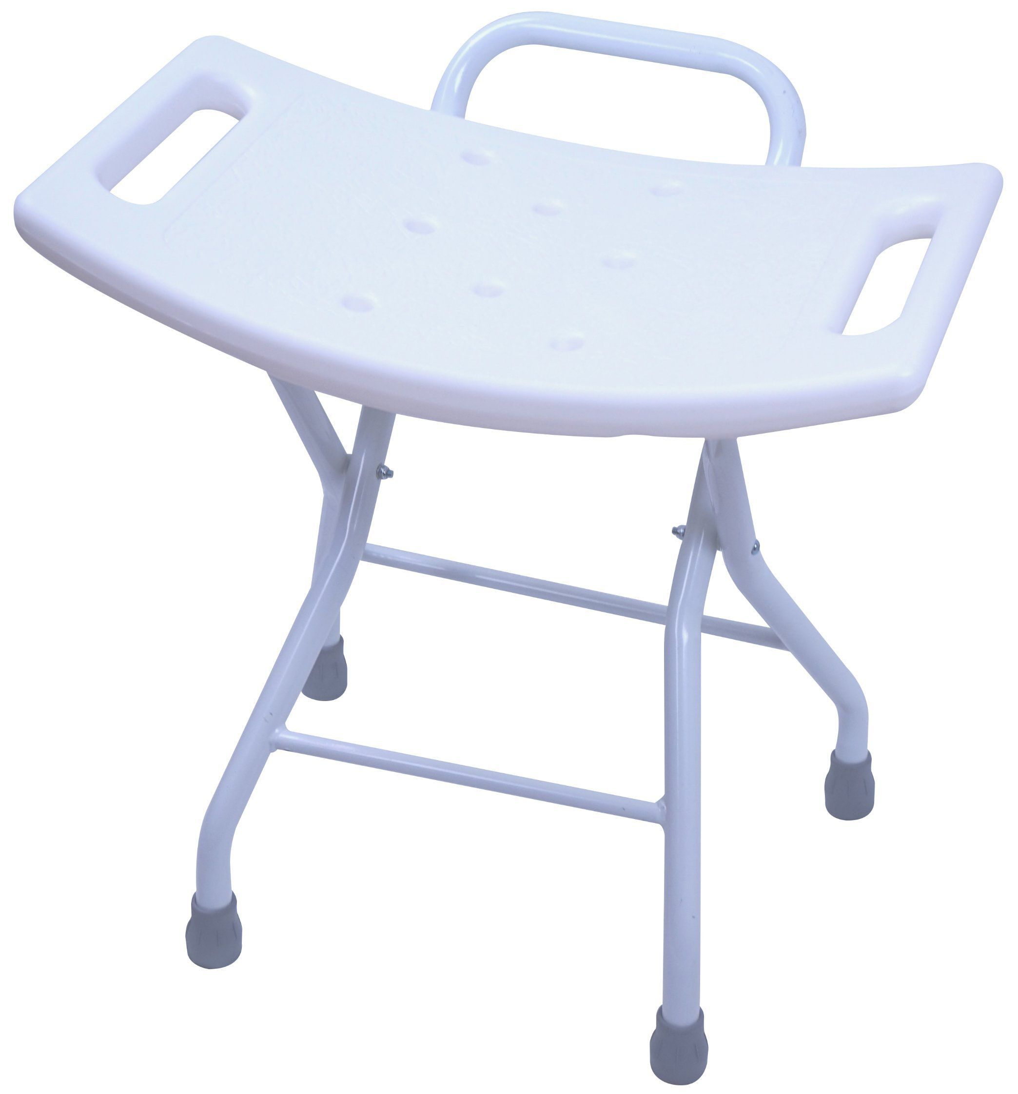 Folding Shower Seat Stool - Portable Bath Bench Chair with Hand Grab ...