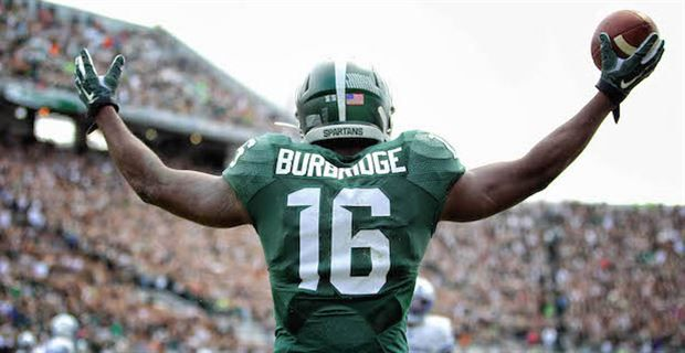 Quiet Burbridge Finds Loud Game As A Senior At Michigan State Michigan State Football Michigan State Msu Football