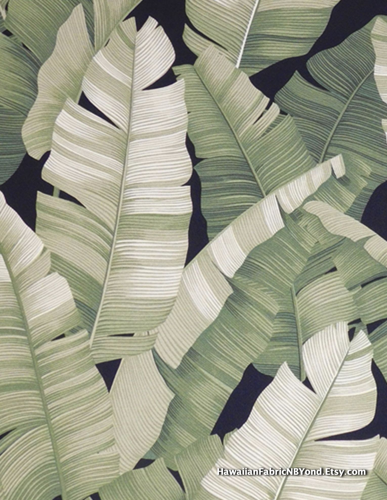Upholstery Fabric Banana leaf tropical fabric for bedding and curtains By HawaiianFabricNBYond a shop on Etsy