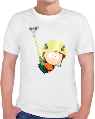 South Park - Kyle Dağa Tırmanıyor Kendin Tasarla - Erkek Bisiklet Yaka Tişört