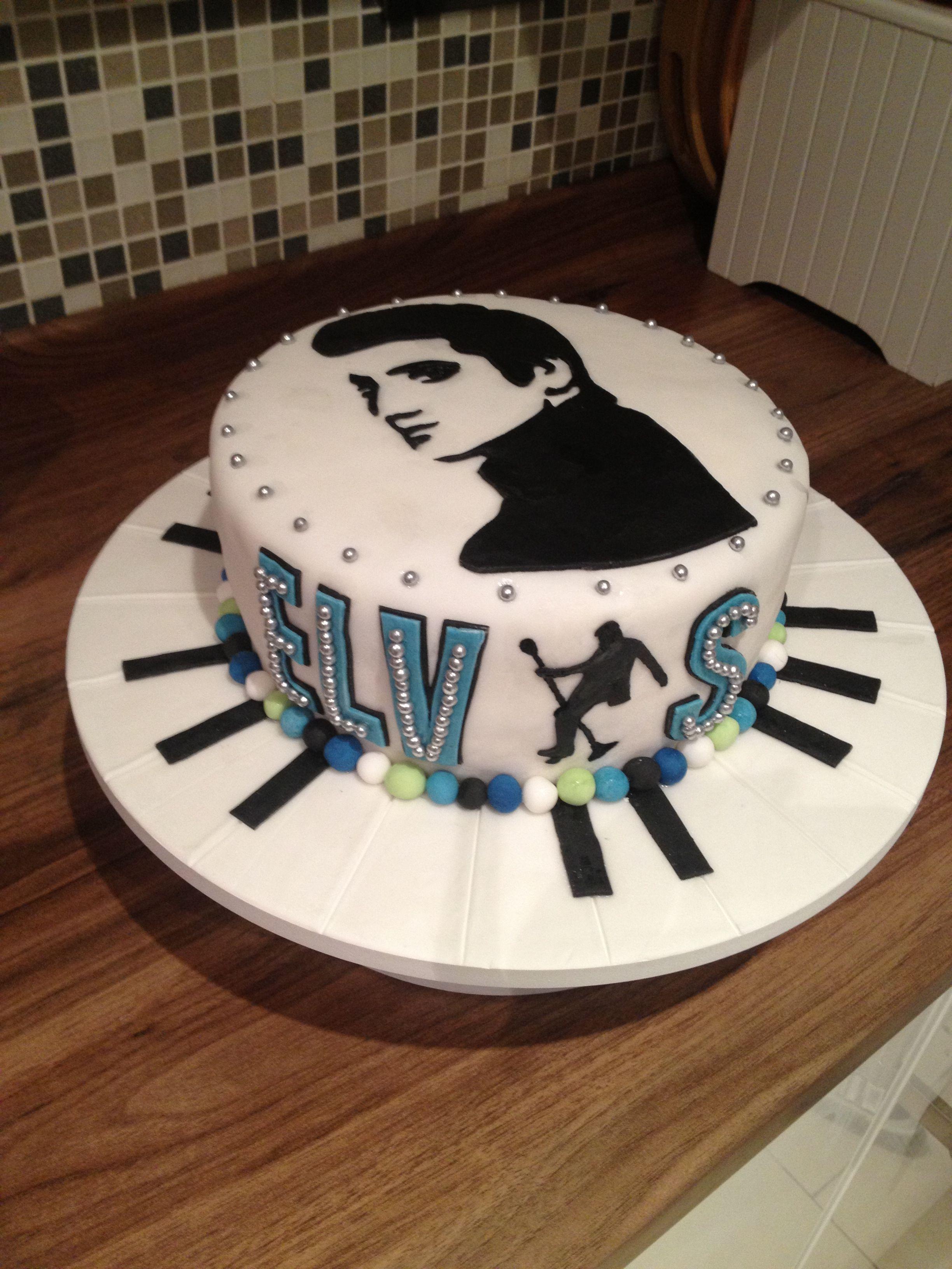 Elvis Birthday Cake Cake Ideas In 2019 Elvis Cakes