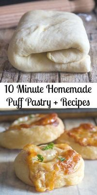 10 minute Homemade Puff Pastry + Recipes-Sweet & Savory