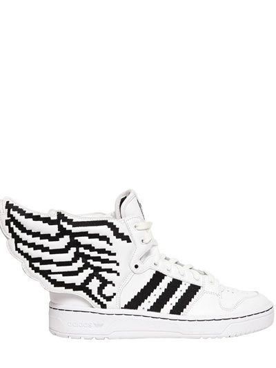 ADIDAS BY JEREMY SCOTT JS WINGS 2.0 PIXEL LEATHER HIGH