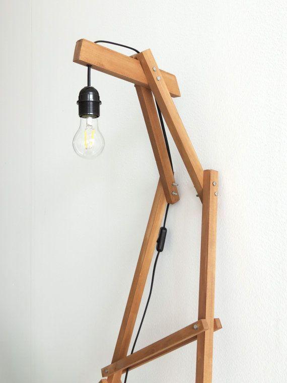 Floor Lamp Big Ferm Industrial Lighting Wood Lamp Ot Paladim
