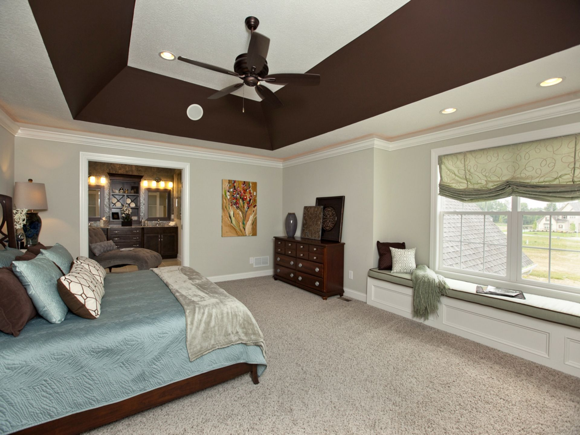Deep Angled Tray Ceiling In Master Bedroom 3 Pillar Homes Bedroom