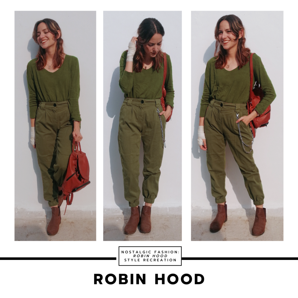 Disneybound Inspired By Robin Hood 1973 Army Green Pants V Neck Long Sleeve Shirt Brown Ankle Boots College Fashion Fashion Everyday Outfits Summer