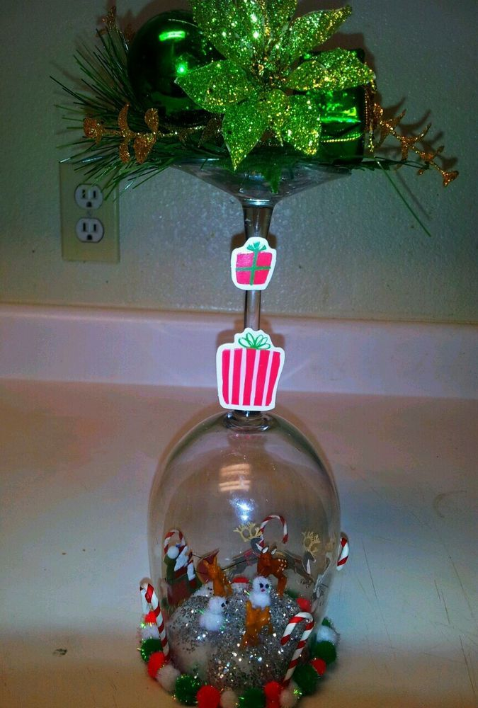 +OOAK+DiY+Christmas+3+D+Home+glass+Dome+Decoration+Centerpiece+