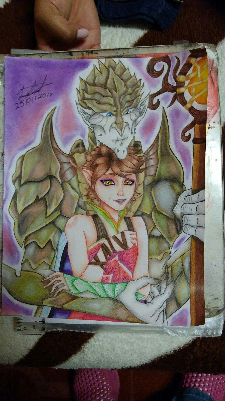 Este es un dibujo que hice hace poco sobre la película Strange Magic ...