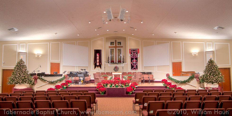 Church christmas decorations tabernacle baptist church for Christmas church decoration ideas