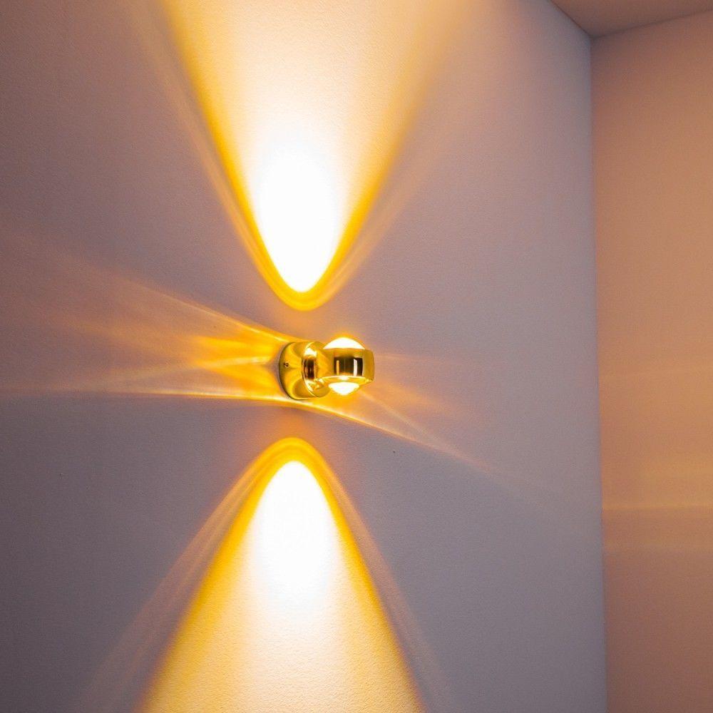 LED Design Wandleuchte Wandlampe Flurlampe Wandstrahler Wohnzimmer RIO goldfarbe  eBay