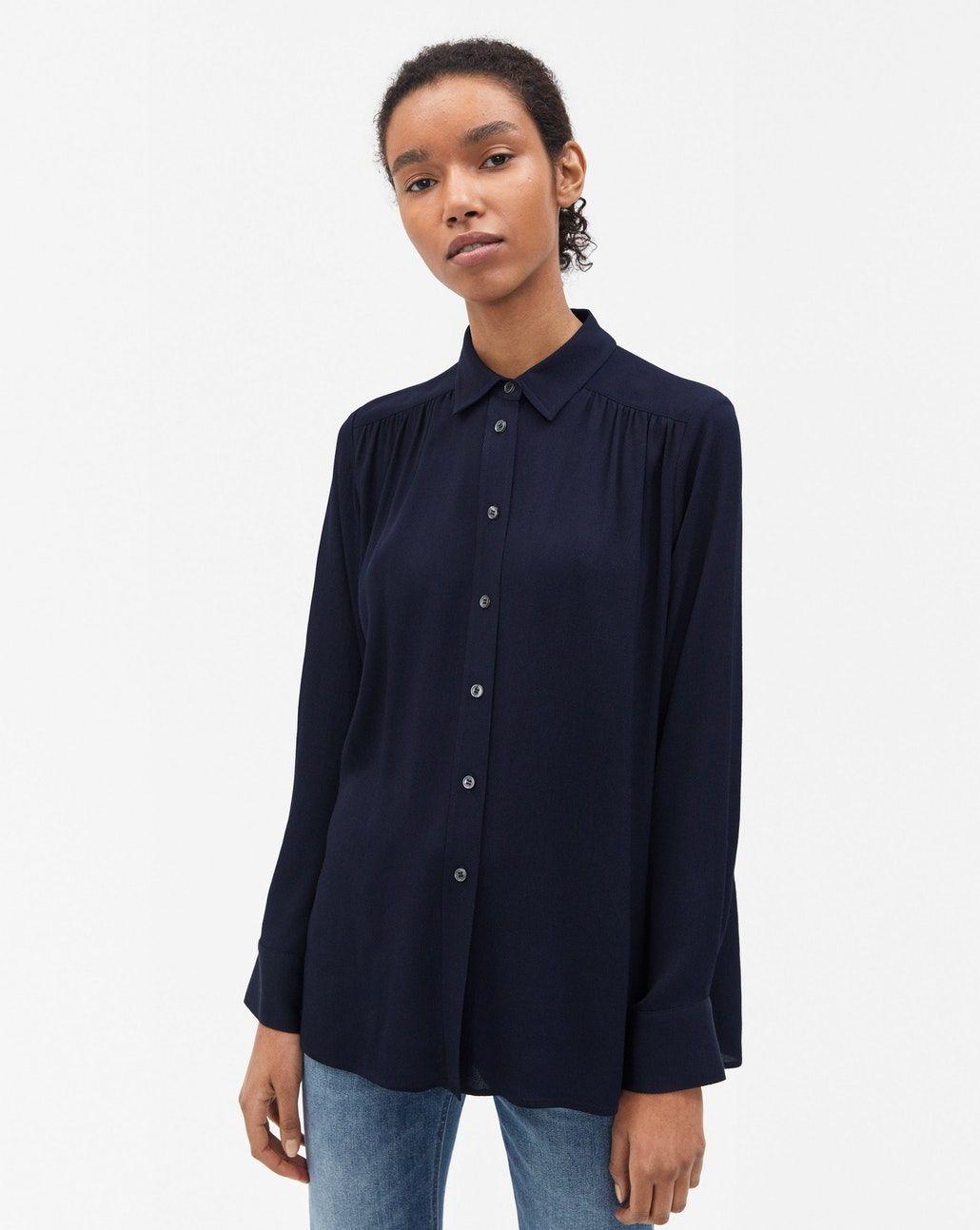 denim blouse dames sale