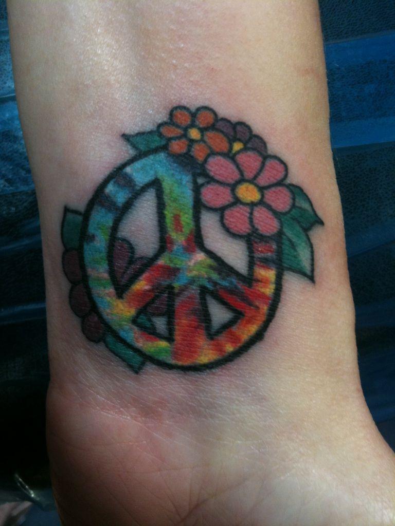 Finally got my peace tattoo love it peace for Peace tattoo designs