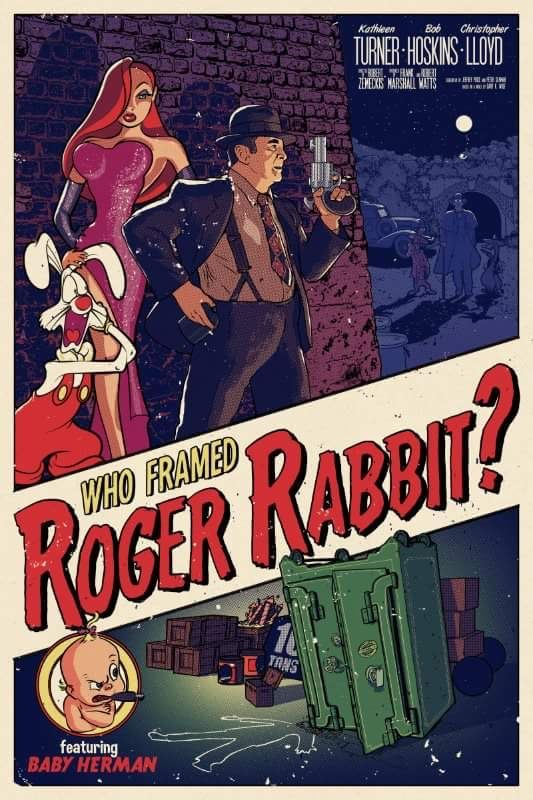 Welcome2creepshow Who Framed Roger Rabbit By Timandersonart Movie Posters Vintage Disney Posters Roger Rabbit