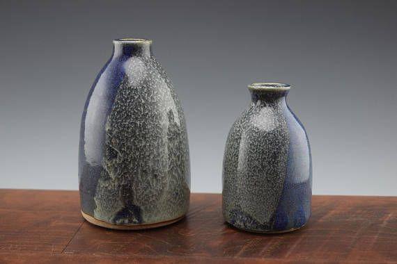 Dark Bluesea Foam Handmade Ceramic Vase Flower Vase Art Studio