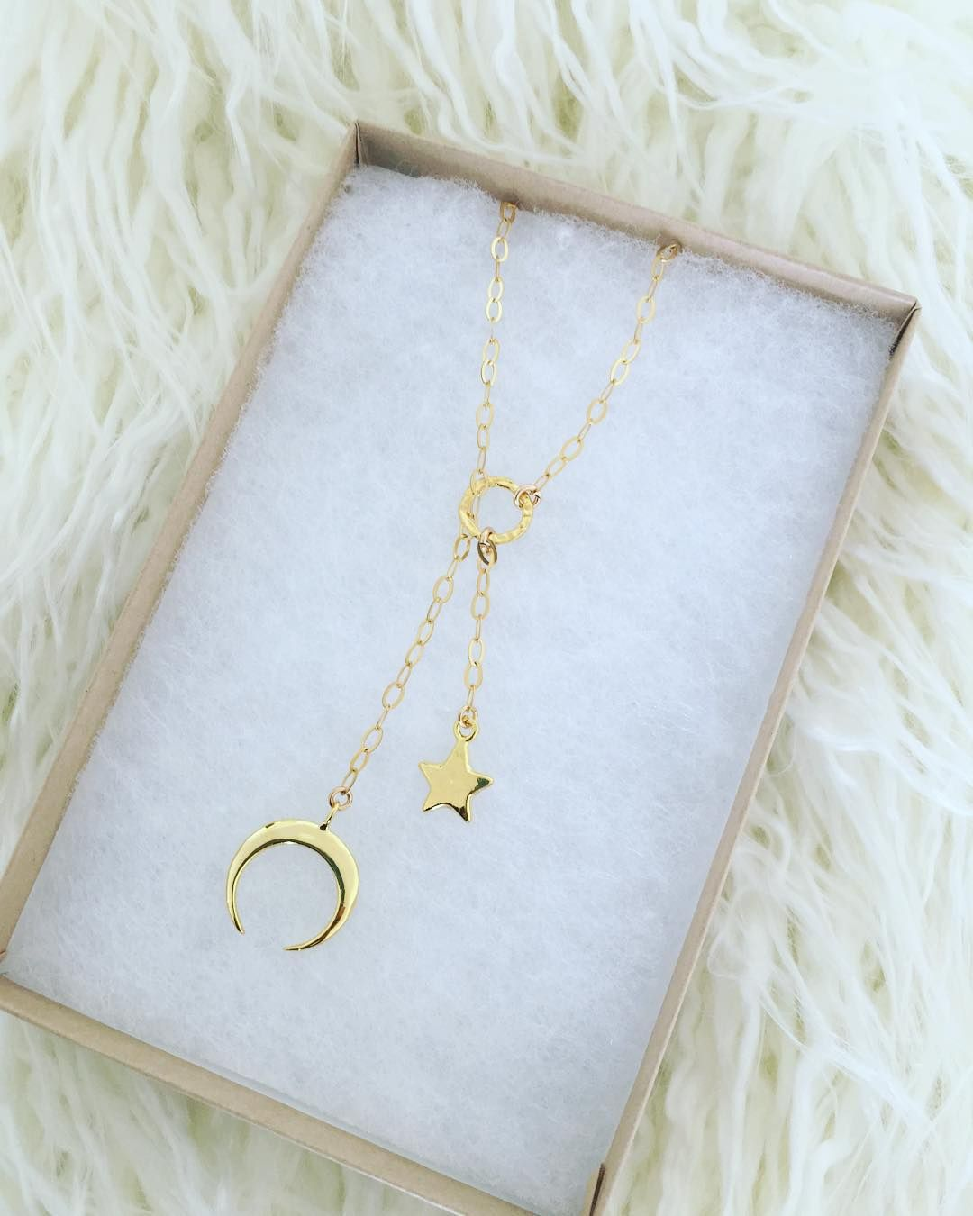 Crescent Moon & Stars Lariat ✨By Long Lost Jewelry