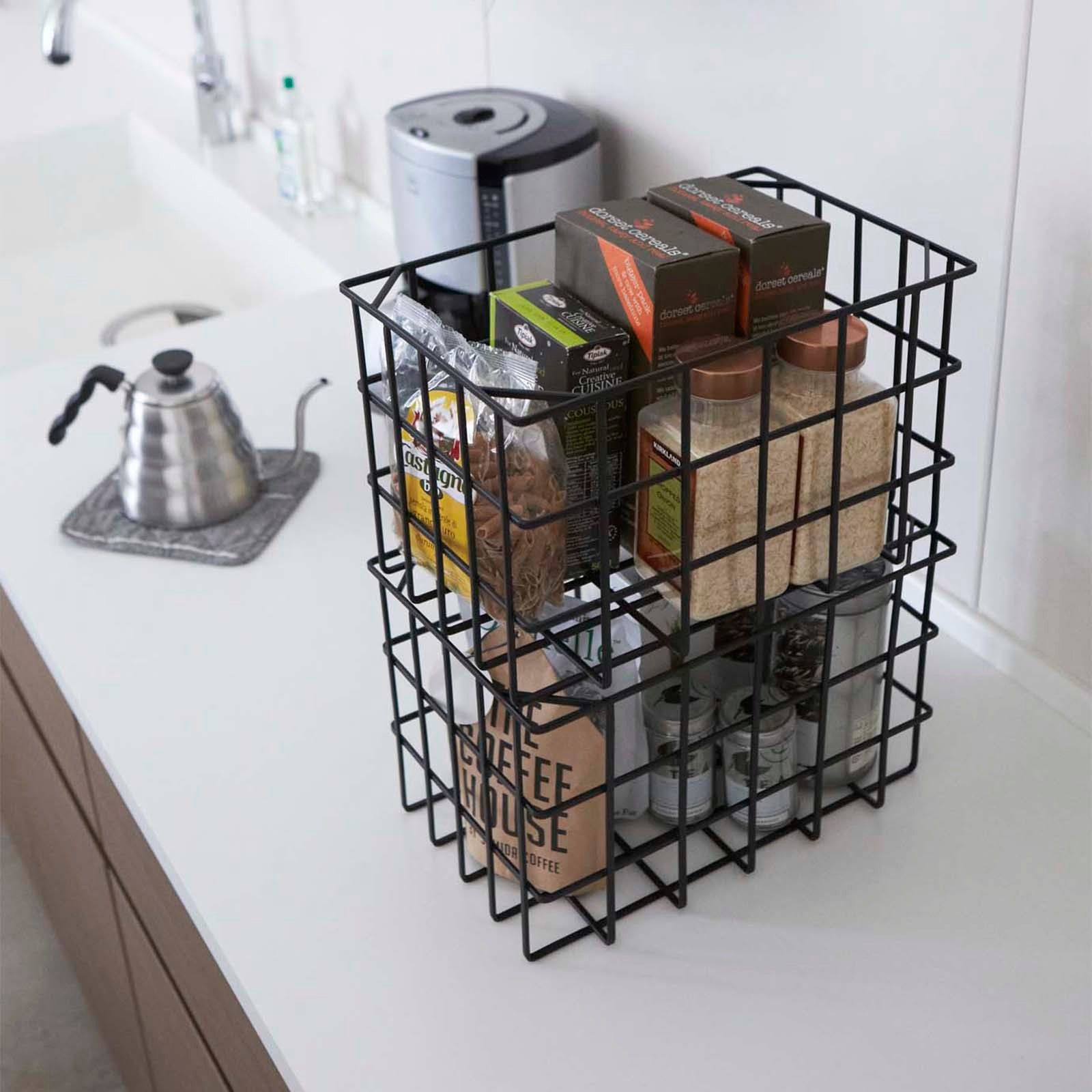 Tower Stackable Basket by Yamazaki Home