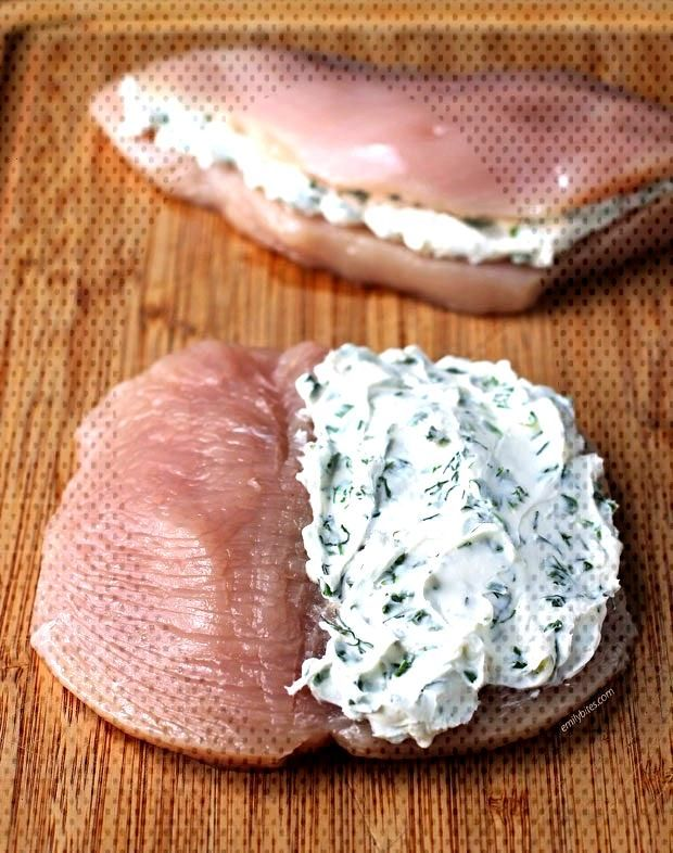 Cream Cheese and Herb Stuffed Chicken - Emily BitesCream Cheese and Herb Stuffed Chicken - Emily Bi