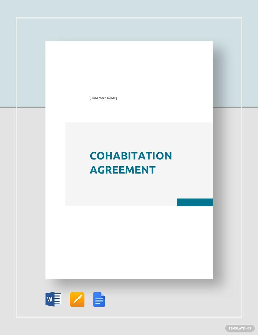 Cohabitation Agreement Templates Word Doc Lettering