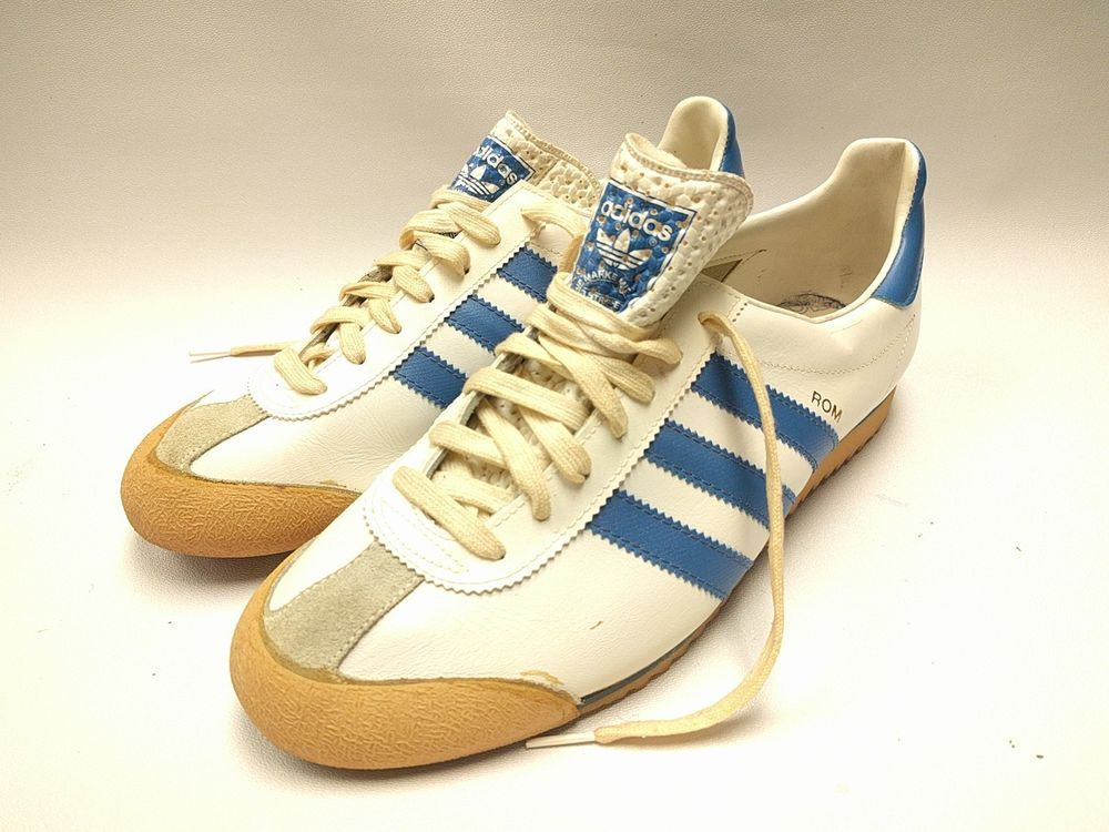a2bbdd2bdb5a Vintage Retro 70 s 80 s Adidas ROM Men s size 8 Blue White Made In Taiwan  Nice!