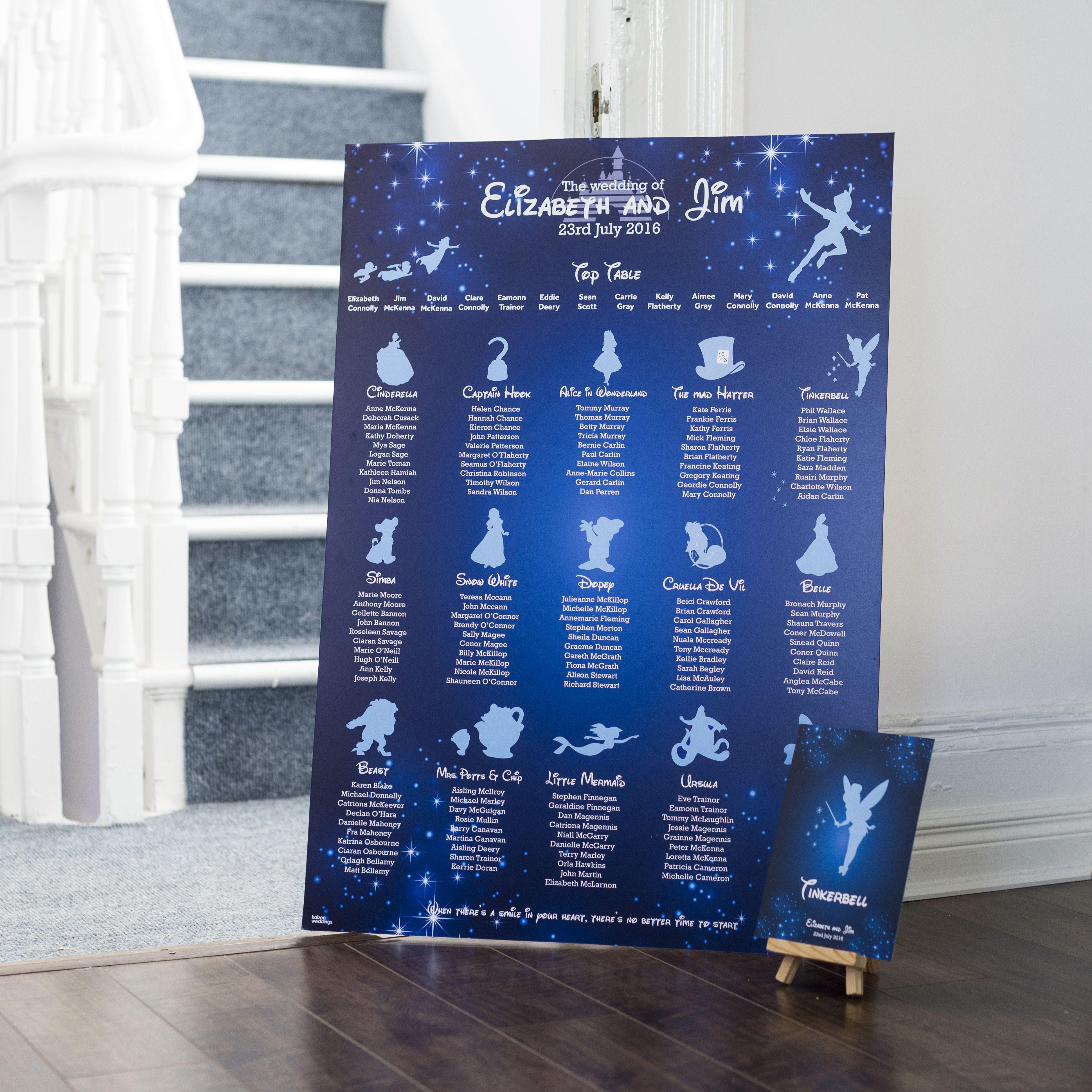 disney table plan http kaizenprint co uk kaizen wedding